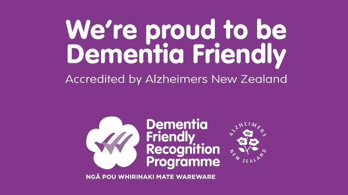 Presbyterian Support Northern is a Dementia Friendly organisation!