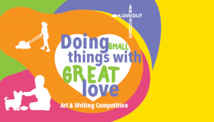 Doing small things with great love - love reaches out art packs
